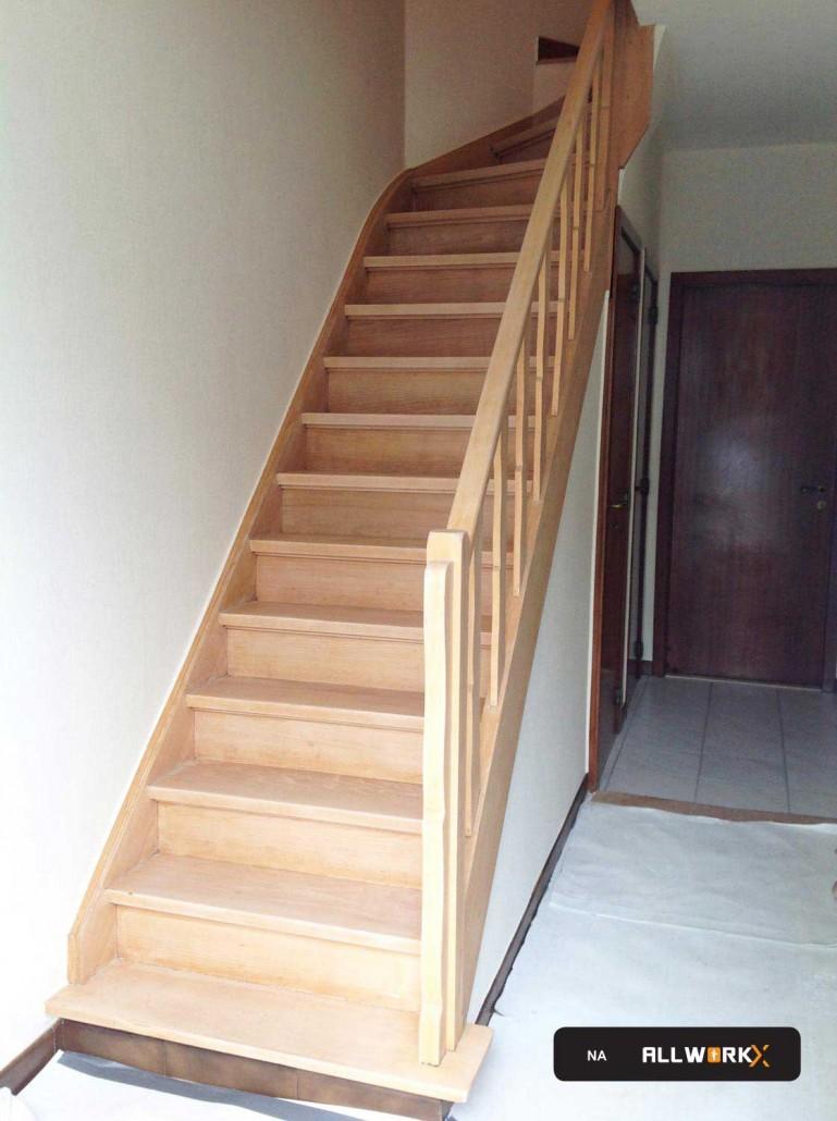 Traprenovatie prijs offerte renoveren trap stabroek for Renovatie houten trap